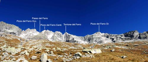 Major summits of Val del Ferro.