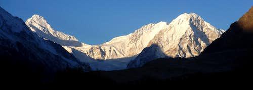 Upper Rupal Valley Peaks