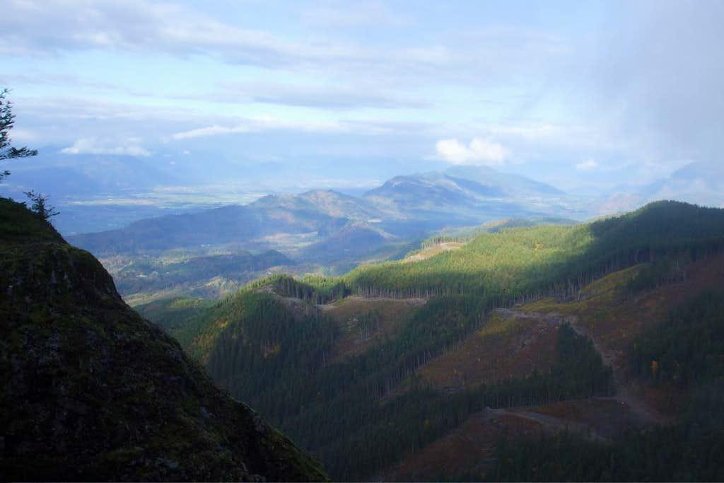 View northeast from summit cliffs