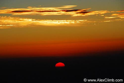 Sunrise from the Summit of Elbrus