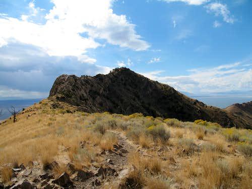 The summit of Frary Peak...