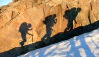 Climber's shadow...