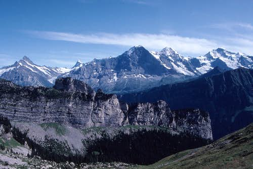 The Eiger group from east of Schynige Platte