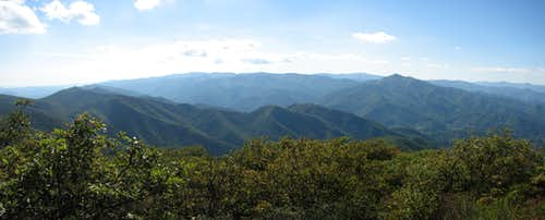 Pisgah summit panorama.