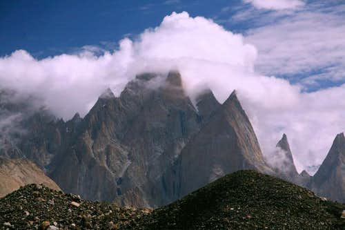 Lobsang Spair Peaks, Baltoro Glacier, Karakoram, Baltistan, Pakistan