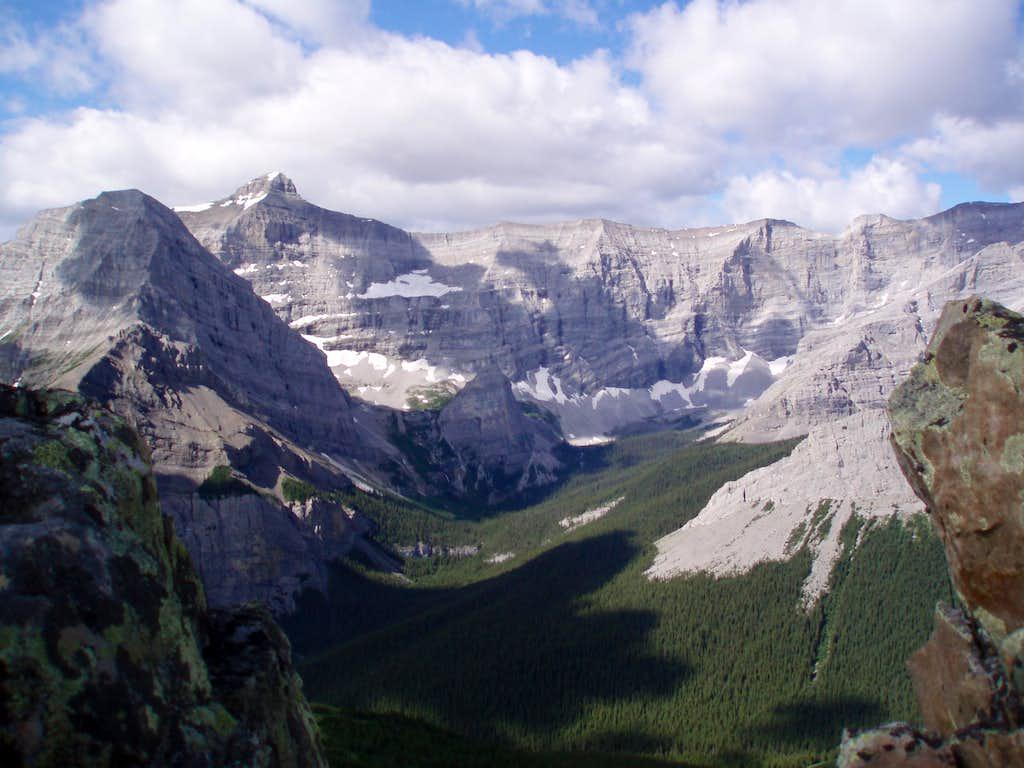 Mt. Bogart (far left) and Bogart-Sparrowhawk Col ( middle).