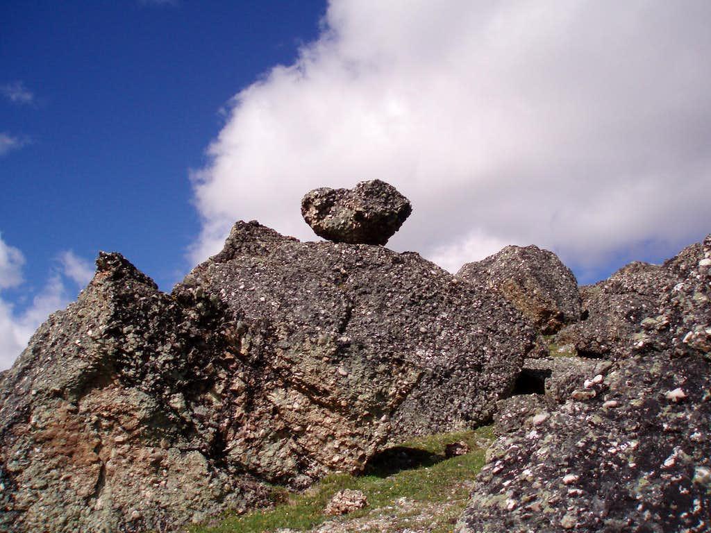 Unusual rock formation.
