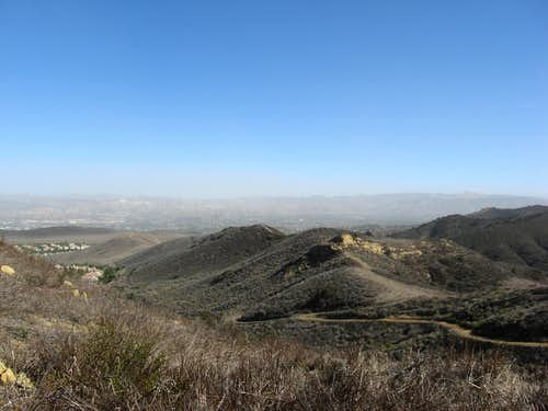 view of simi valley, you can actually see the smoke roll in from the 2007 southern california fires