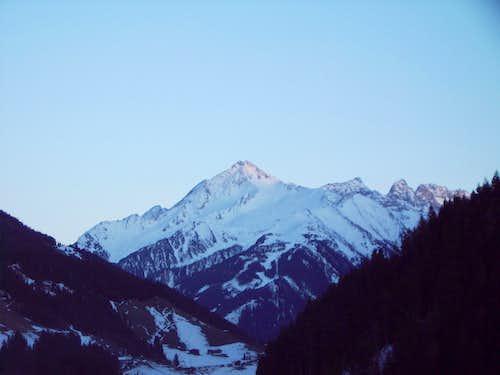 Ahornspitze in winter