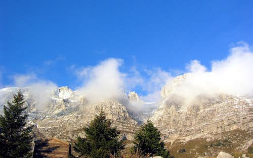 A view from riffugio Brazza (1660m)