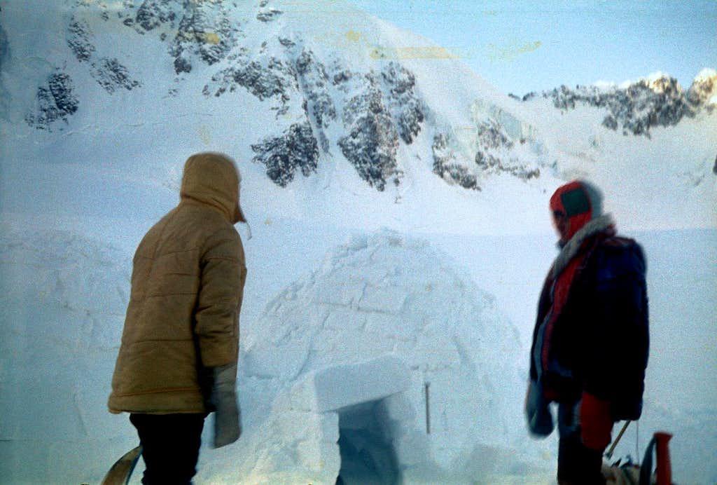 Igloo at Mechta Glacier, North Chuyskie Belki Range, Altay