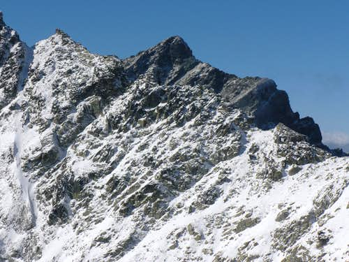 Krivan (2495 m) with the fore-summit of Ostra (2350 m)