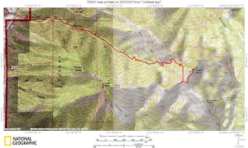 Dry Canyon Route