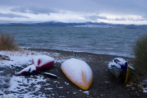 Mono Lake Snow