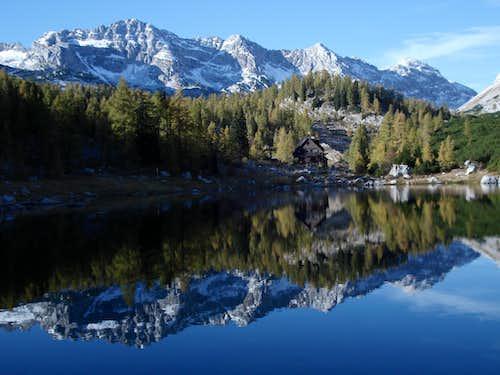 Triglav 7-Lakes Valley - Double Lake with Triglav Hut