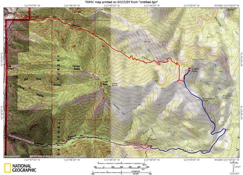 Dry Canyon and Prividence Canyon Routes