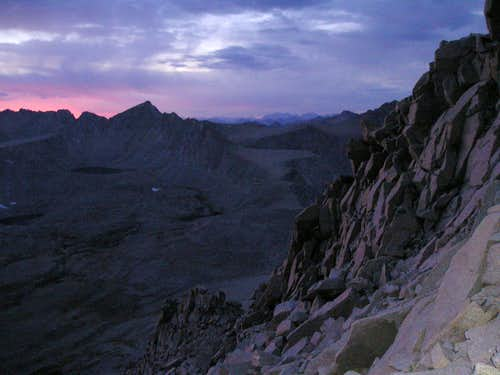 Tyndall's Northwest Ridge at Sunset