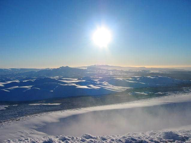 Sunny view from the summit