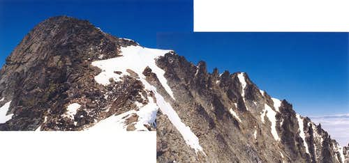 The two summits of Mt....