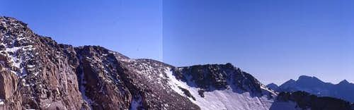 A panorama of the north ridge...