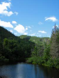 Hills bordering the Saguenay