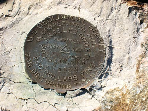 Elevation Marker-Pleasant View Ridge (7893\')