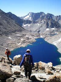 Descending Muriel Peak's SW ridge