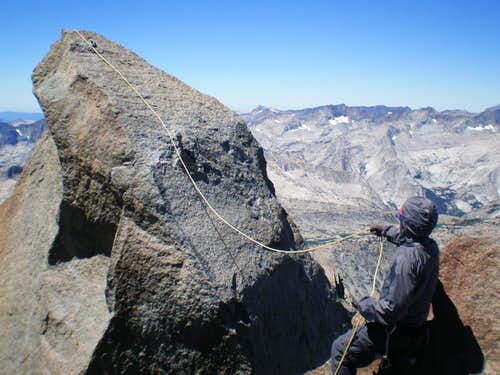 Unsuccessfully trying to lasso the summit block