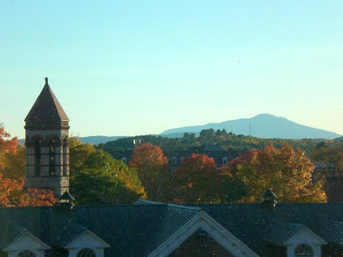 Ascutney from Dartmouth College campus