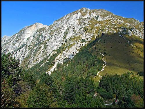 Monte Chiampon from the south