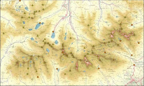 High Tatras overlay map