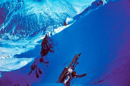 Backcountry Skiing Altay, Siberia, 1988