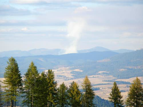 View to North from Moscow Mountain Road