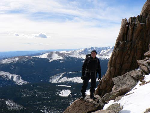 Winter climb of Mount Meeker