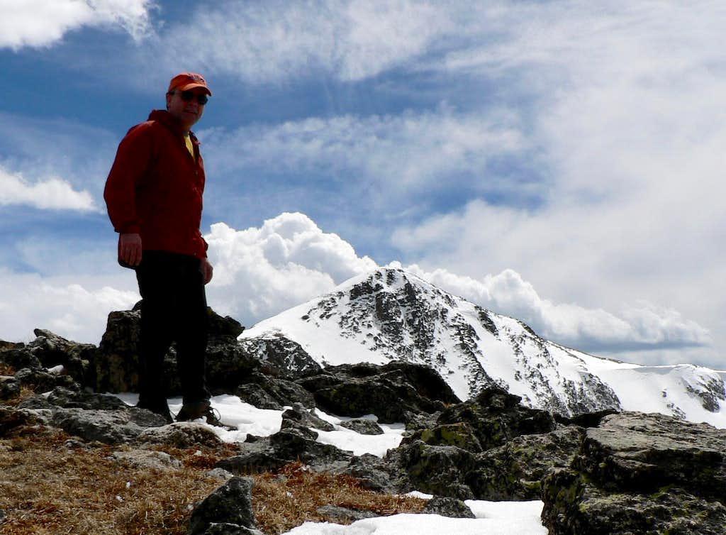 Flattop summit with Hallet Peak in background