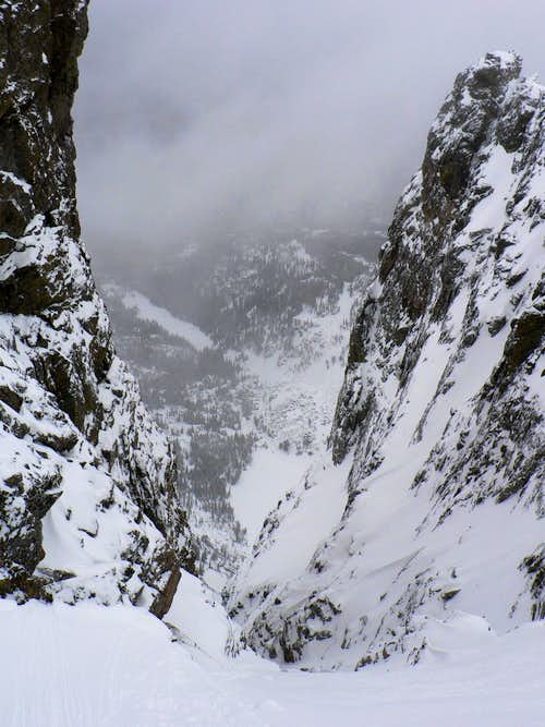 Dragon\'s Tail Couloir in RMNP