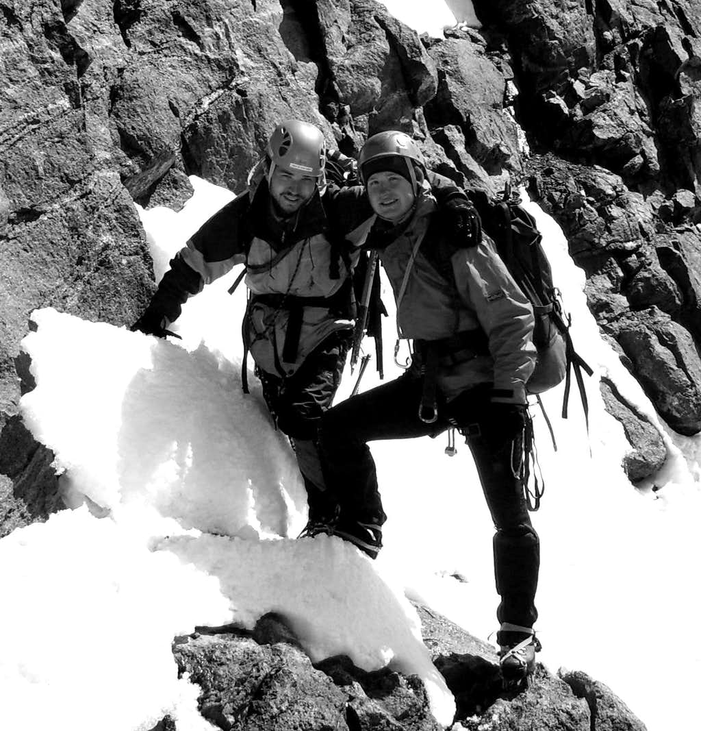 'Spartans' after summiting Rimpfischhorn