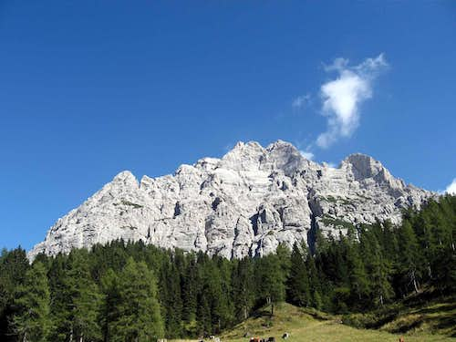 Moiazza seen from Passo Duran.