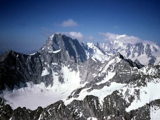 descending from Mont Dolent
