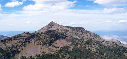 The view of strawberry mountain from indian spring butte