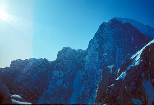 SE Face of Krasavitsa Peak, North Chuyskie Range, Altay