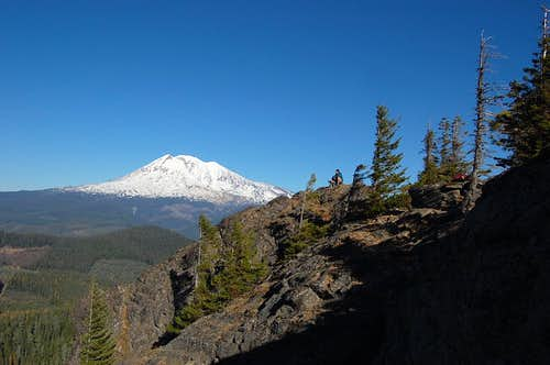 The summit of Sleeping Beauty with Mt. Adams in the background