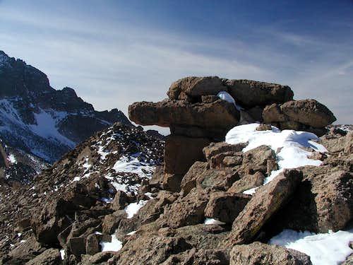 Mount Lady Washington summit rock