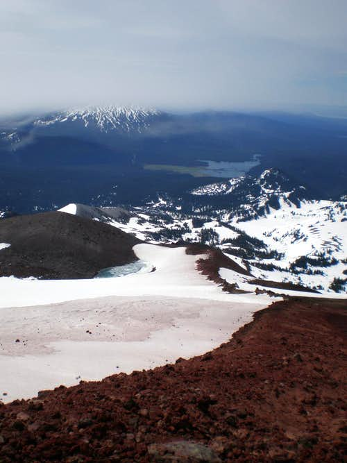 Looking south from the upper slopes of Middle Sister