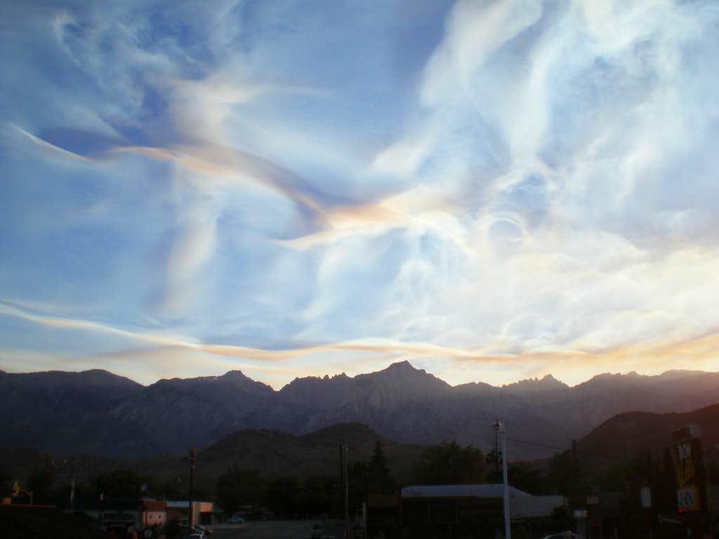 The Whitney skyline from Lone Pine