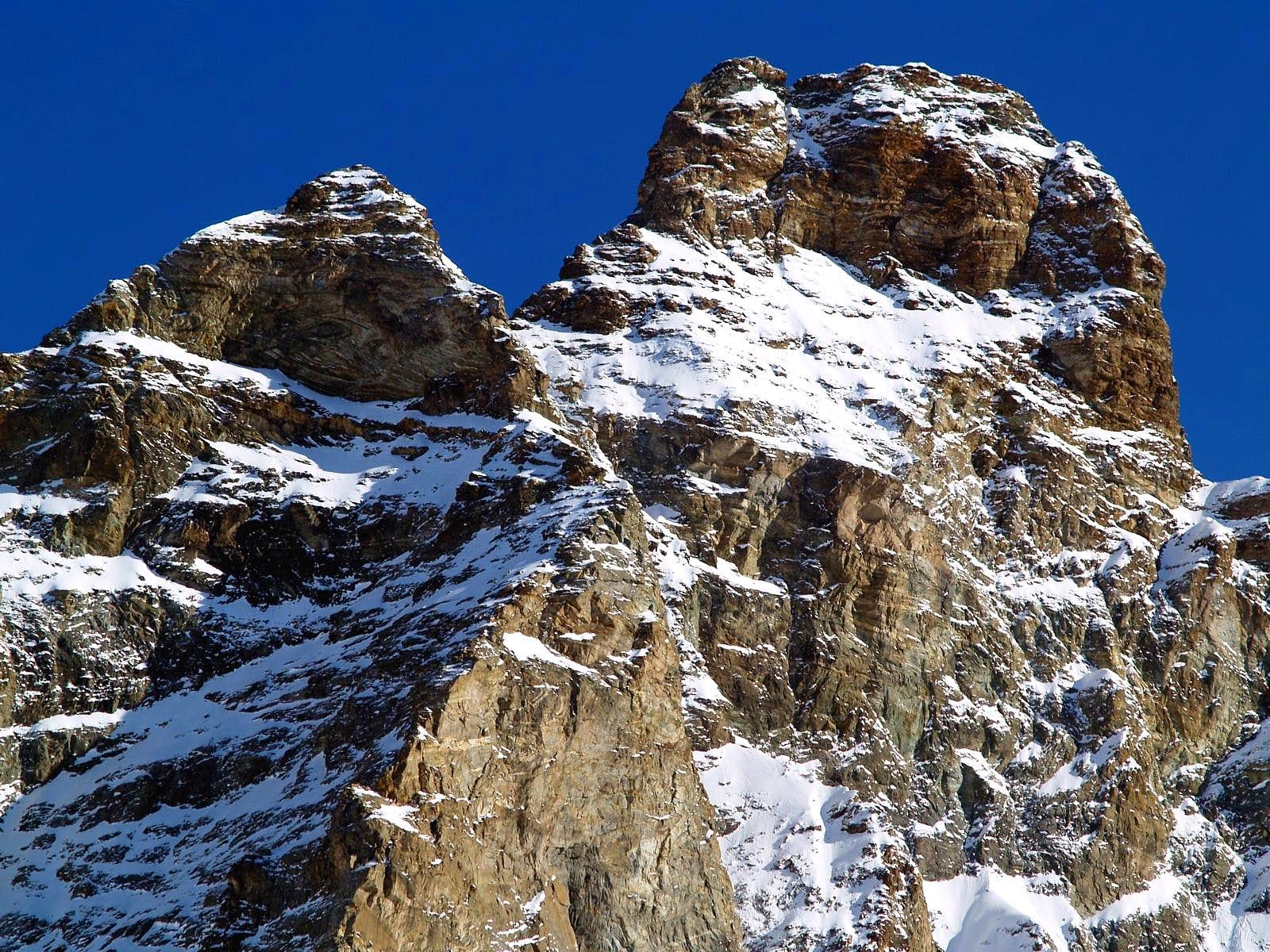 D)- CERVINO (MATTERHORN) / DENT D\'HERENS - LEFT SIDE Fourth Part