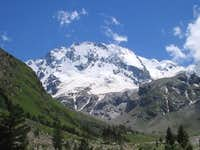 Ullutau (4203m) north face, Caucasus, Adirsu valley