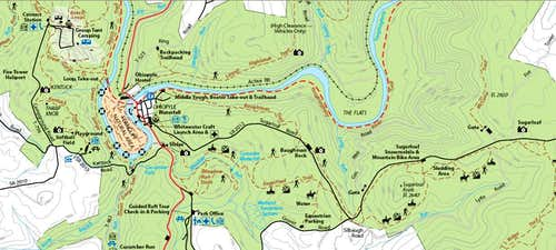 Portion of Ohiopyle Park Map