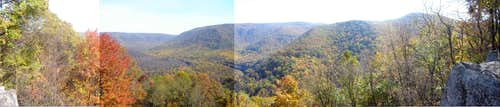 Panorama from Baughman\'s Rock Overlook 10/29/07