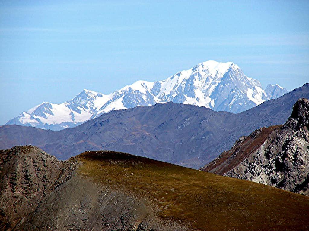 Mont Blanc from Col du Galibier